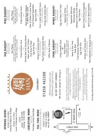 Han's: Takeaway menu Pg1-June2016