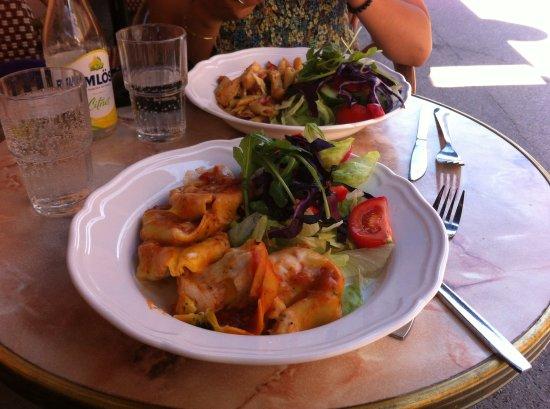 Café Linné Konstantina: Vegetarische Pasta zum Mittagessen
