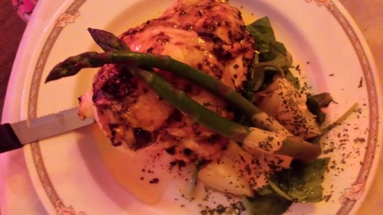 LaBinnah Bistro: The Chicago - a chicken breast glazed with a apricot-ginger melody
