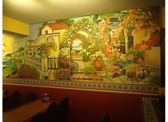 Fiesta Mexicana: one of the many murals