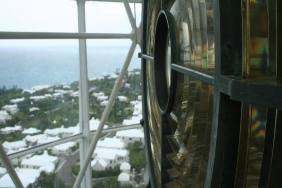 Gibb's Hill Lighthouse: Can even climb up to the lens.