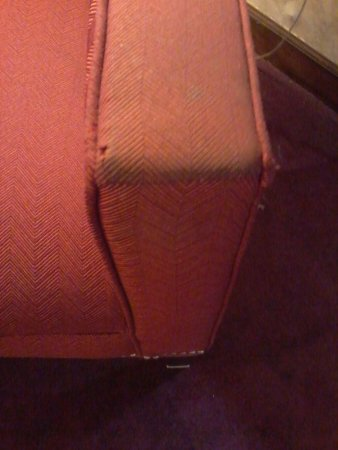 Springfield, TN: Dirty upholstry. Cigarette burn holes in it, too.