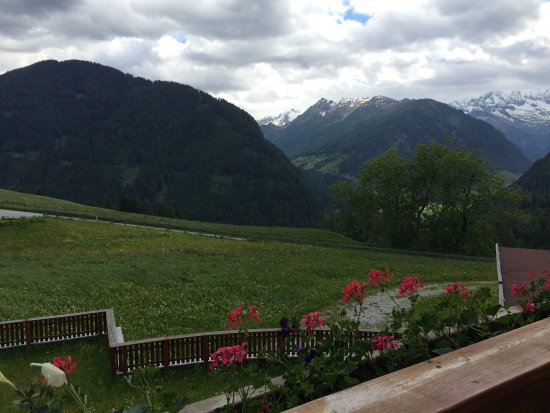 Hotel-Restaurant Humlerhof : View from 2nd story room...yes, it's mid June 2016 in the Austrian Alps!