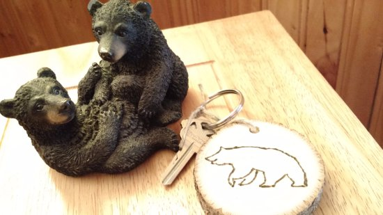 Drake, CO: Bear motif with bear key to the room