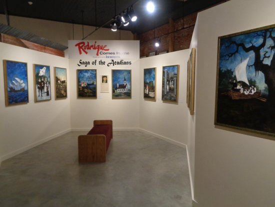 "‪‪New Iberia‬, لويزيانا: Rodrique ""Saga of the Acadians"" paintings display‬"