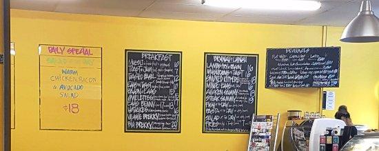 Cafe Jacko menus