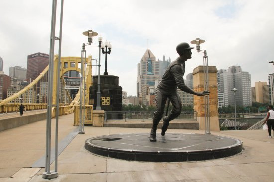 PNC Park: Roberto Clemente statue in front of the park