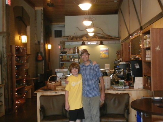 Weaverville, NC: This is the owner and his son (who was assisting him) by the counter.
