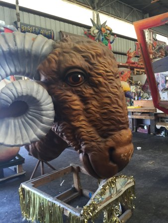 Blaine Kern's Mardi Gras World: Props in progress