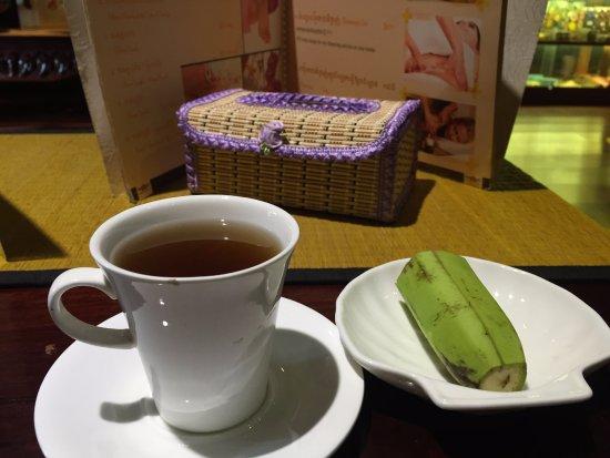 Angkor Spa: 按摩結束後免費茶點
