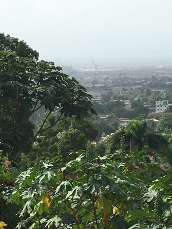 Port-au-Prince, Haiti: The view from the gallery.