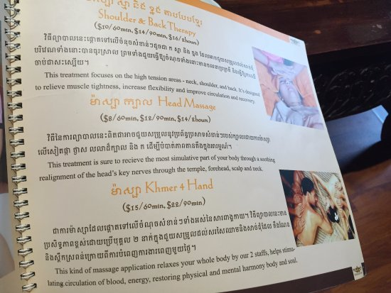 Angkor Spa: 目錄介紹(Khmer 4 Hand)