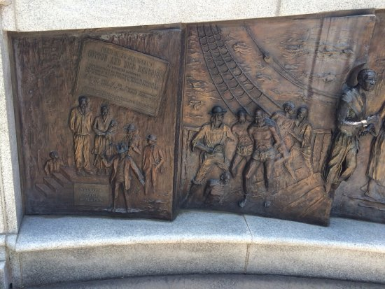 South Carolina State House: Closer view African American Memorial -