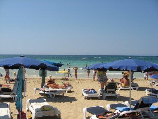 Corfu Hotel: Пляж возле отеля Мелисси