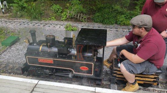 Mizens Railway: Steam train on the shorter route.