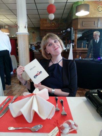 Blaesheim, Frankrike: Lecture du Menu ...miam !