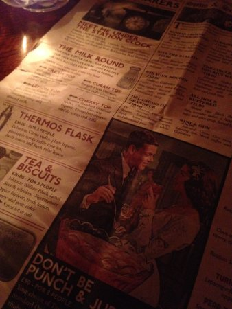 Funny cocktail's names - Picture of Cahoots, London - TripAdvisor