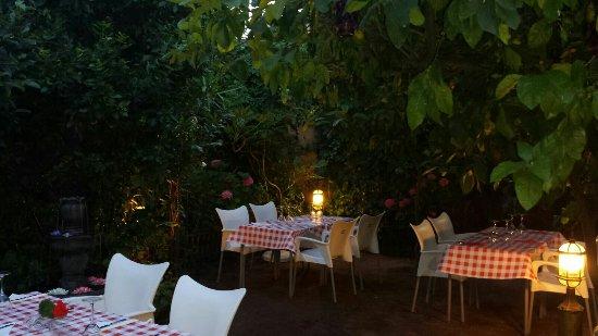 El Restaurante el Bobo de Coria tiene preparodo el jardin interior para tus veladas de fines de