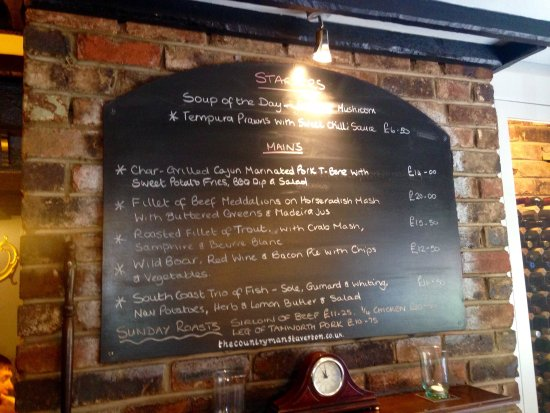Staverton, UK: Specials board Sunday 26th June