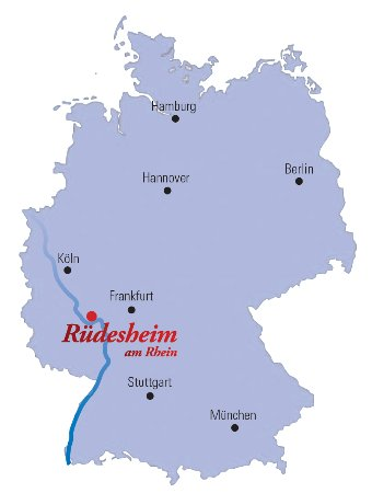 Rudesheim Germany Map.Ruedesheim Near Frankfurt In The Rheingau And Romantic Rhine Valley