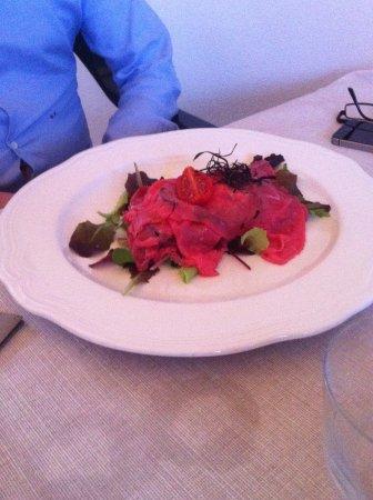 Lozzo Atestino, Italia: Carpaccio di carne