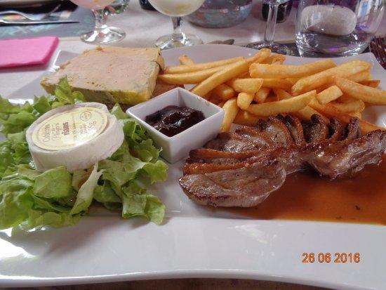 Piegut-Pluviers, Francia: Assiette de l'étoile ( 17€ )