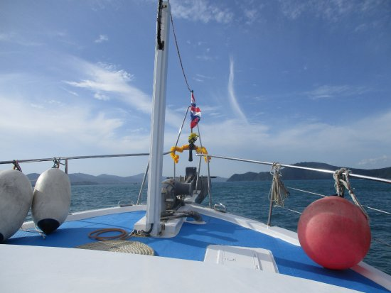 Andys Scuba Diving Phuket : View from the boat out to Racha islands