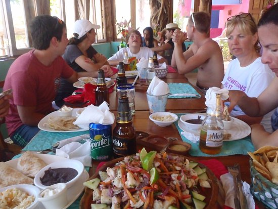 Gypsea Divers Mahahual: Over the top lunch after snorkeling with Gypsea Divers!