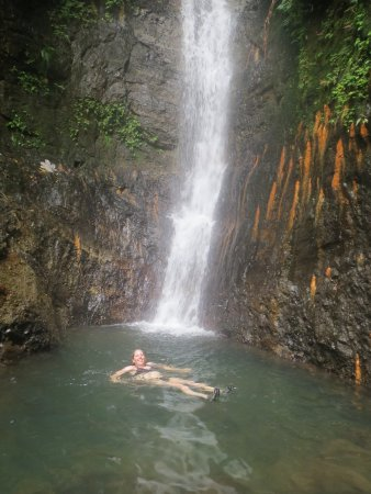 Saint George Parish, Grenada: Swimming in Honeymoon Falls
