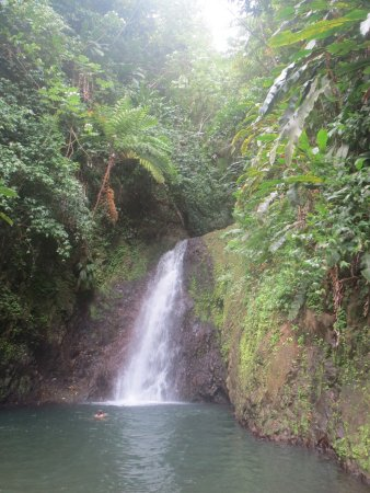 Saint George Parish, Grenada: Swimming in the Upper Falls of Seven Sisters