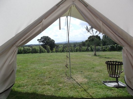 Winkleigh, UK: The view from one of our bell tents