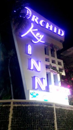 Orchid Key Inn Art Deco lighted sign.