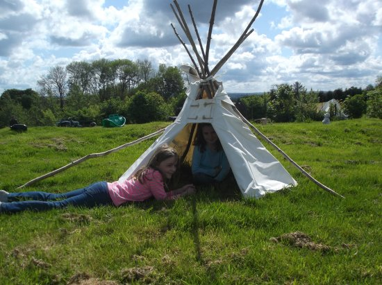 Winkleigh, UK: The tipi in the play area