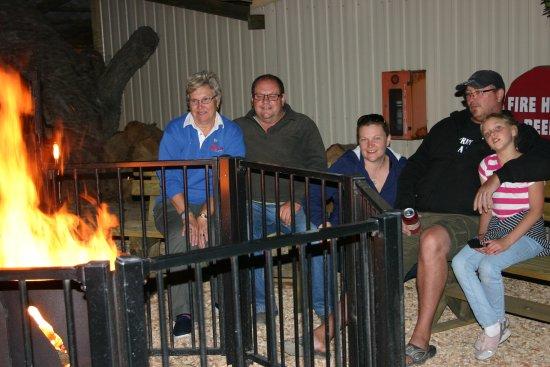 Hillview Caravan Park : Camp Fire