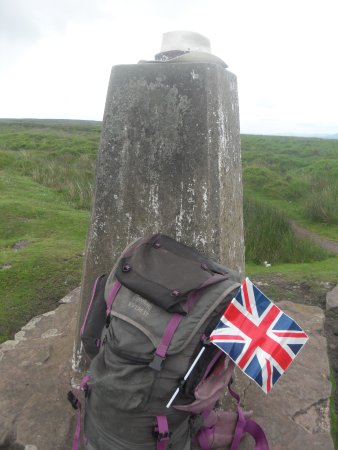 Shropshire, UK: Trig Point, Hatterall Ridge