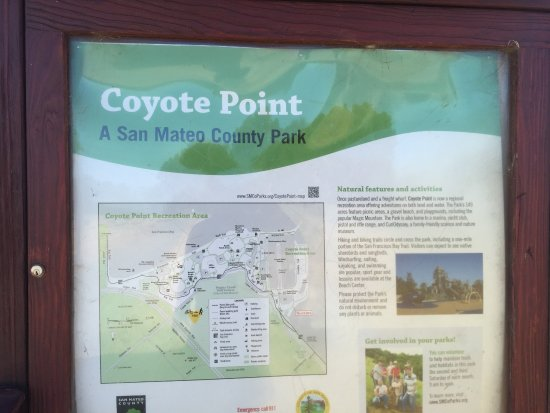 San Mateo, Californië: Coyote Point Recreation Area Sign