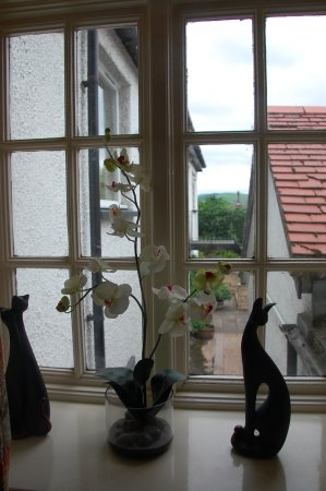 Yetholm, UK: View from window in stairwell