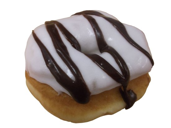 City Donut : Vanilla iced raised donut