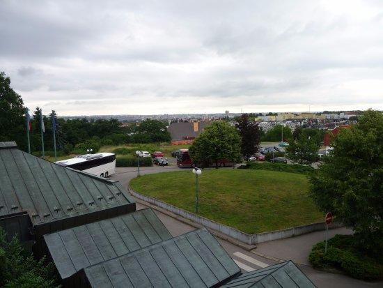 Globus: uitzicht vanuit de voorkant op Praag