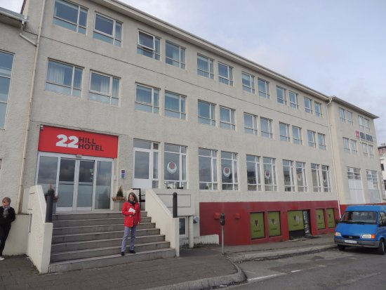 Main Entrance To The 22 Hill Hotel Reykjavik