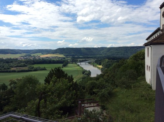 Museum Schloss Fuerstenberg: The view of the river Weser.