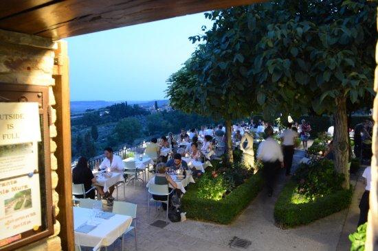 The Terrace Picture Of Le Vecchie Mura San Gimignano Tripadvisor