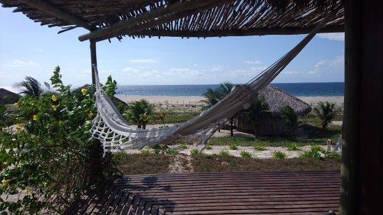 Rancho do Peixe: Desde el deck del bungalow se ve el mar
