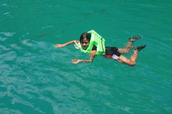 Mindanao, Filipina: Swimming with jellyfish