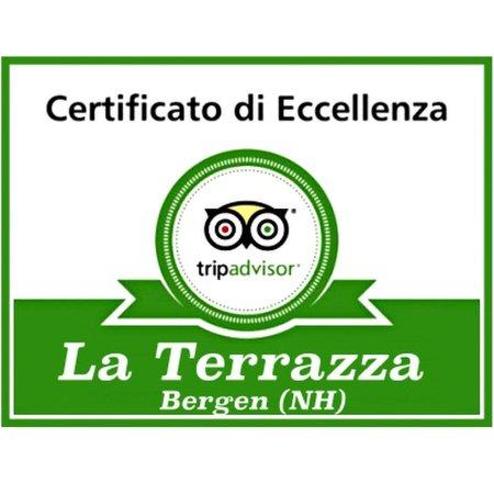La Terrazza : Certificato di Eccellenza