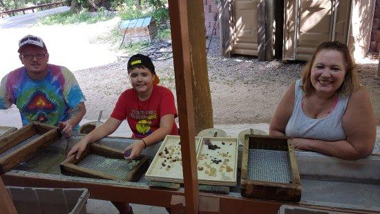 Having a wonderful time at Jackson Hole Gem Mine !