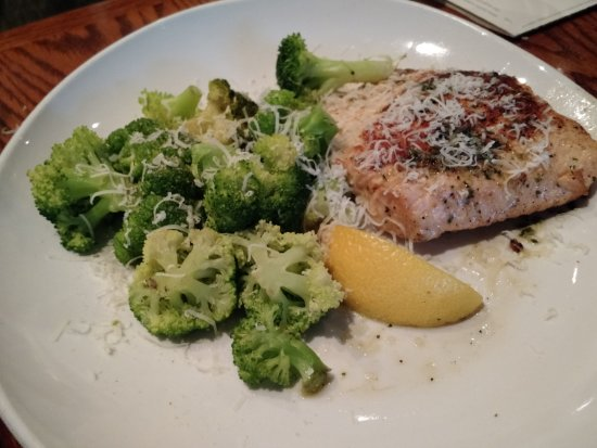 Herb Grilled Salmon With Parmesan Garlic Broccoli Picture Of Olive Garden Greenville