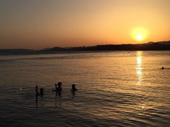 Le Meridien Lav Split: Toller Sonnenuntergang