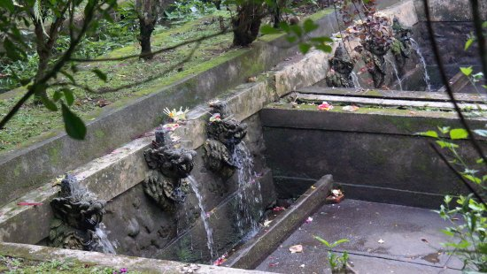 Pura Luhur Batukaru: prameny s obětinami