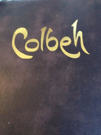 Colbeh: menu cover